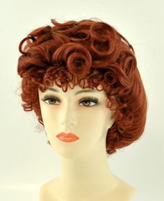 Adult Womens Blonde Gibson Girl Wig Costume Curly Bun Old Fashioned Saloon 1900s