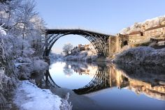 No matter what the weather, the Iron Bridge always looks stunning but it looks better than ever in this picturesque winter setting.