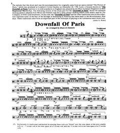 Downfall of Paris - classic snare drum solo. Played this my Freshman year of college in a mass-drummer setting. Still a lot of solid, fundamental aspects to be mastered.