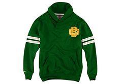 Green Bay Packers Shawl Collar Fleece Pullover