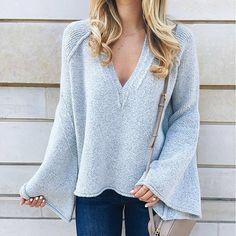 Add some flare to sweater weather in @livvylandblog's 35% off v-necked #LTKsalealert score | Get ready-to-shop  details with www.LIKEtoKNOW.it | http://liketk.it/2pH8G #liketkit #flatlay #flatlays #flatlayapp www.flat-lay.com