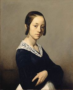 Louise-Antoinette Feuardent, 1841  Jean-Francois Millet  ArtExperienceNYC   www.artexperiencenyc.com