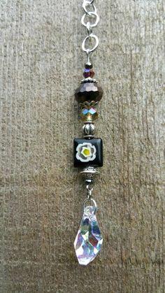 Mini Swarovski Crystal Suncatcher Boho Crystal by MommaGoesBoho Crystal Beads, Swarovski Crystals, Crystal Mobile, Rear View Mirror, Suncatchers, Gems, Drop Earrings, Boho, Mini