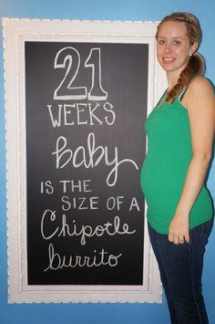 Pregnancy chalkboard 21 Weeks!