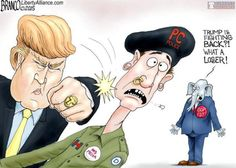 Donald Trump Fights Back against the PC police while most GOP leaders cower!