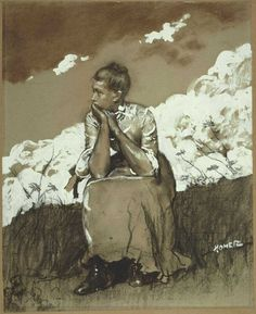 Girl Seated (1880) Winslow Homer. - Reminds me of one of my favorite books: My Antonia.