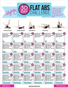 30 Day Flat Abs Challenge || Fitness Friday