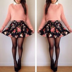 girly outfits with skirts and boots - Btw my style %100!! my teacher Inge would look so awesome & hot in it!!