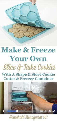 Do you like slice and bake cookies, but wish you had control over the ingredients? Or do you enjoy holiday baking, but want to get a early start and freeze the cookie dough? Either way this cookie cutter and freezer container, combined, will do the trick!