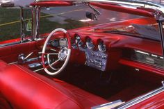1960 Lincoln Continental Mark V convertible--I have always loved a red interior Retro Cars, Vintage Cars, Antique Cars, Lincoln Convertible, Ford Lincoln Mercury, Truck Interior, Lincoln Continental, Red Interiors, Dashboards