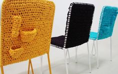 Crochet Chair with storage pockets!!!