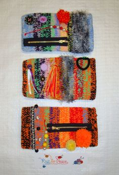 Twiddlemuffs sent in by one of our lovely volunteer knitters. Inspiration for our Voluntary Arts Week challenge - knit a twiddlemuff - send it to us at Knit for Peace and we'll send it out to a hospital for a dementia patient with restless hands.  More information and a pattern on our website: http://www.knitforpeace.org.uk/category/blog/