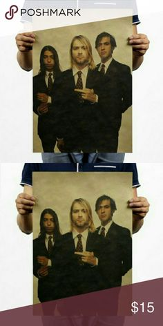 Nirvana Poster (Unframed) New Nirvana poster. #Nirvana #KurtCobain Accessories