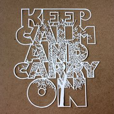 Keep Calm and Carry On. Paper.