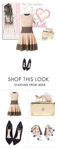 """""""Paris*"""" by fatimahkk ❤ liked on Polyvore featuring Alexander McQueen, Christian Dior and Elizabeth Cole"""