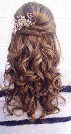Gorgeous Half Up Half Down Hairstyles Ideas Hair inspiration – Hair Models-Hair Styles Wedding Hairstyles Half Up Half Down, Best Wedding Hairstyles, Wedding Hair Down, Homecoming Hairstyles, Wedding Hair And Makeup, Up Hairstyles, Braided Hairstyles, Hairstyle Ideas, Bridesmaid Hairstyles