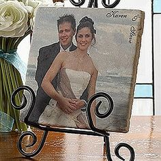 Wedding gift - Photo Creations Personalized Marble Plaque $26.95