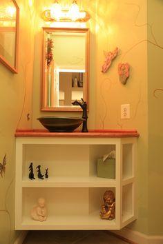 Custom Bath Vanity and Vessel Bowl