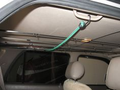 Doug Carter uploaded this image to 'SUV Fishing Rod Holder'. See the album on Photobucket. Fishing Pole Storage, Fishing Rod Rack, Gone Fishing, Fishing Tackle, Casting Rod, Spinning Rods, Car Storage, Fish Camp, Kids Playing