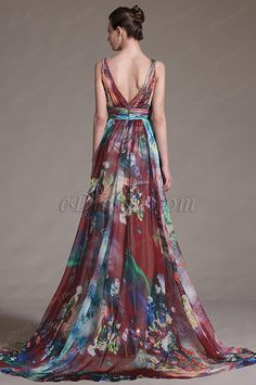 eDressit 2014 New Printed Chic Plunging V-Cut Evening Dress Beautiful Gowns, Beautiful Outfits, Prom Dress Couture, Unique Formal Dresses, Gala Gowns, Peacock Dress, Evening Dresses, Summer Dresses, Pretty Dresses