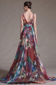 eDressit 2014 New Printed Chic Plunging V-Cut Evening Dress (00127868)