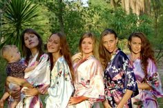 SALE Set of 7 kimono robes  Bridesmaid Robe Bridesmaid by AnyzA, $153.93