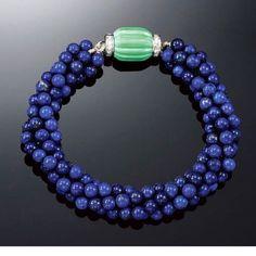 """Mi piace"": 197, commenti: 4 - Arlene Glantz-Gemologist (@aglantzinc) su Instagram: ""A Lapis Lazuli, Turquoise and Diamond bracelet by Cartier,circa 1920, from Sothebys London 2006…"""