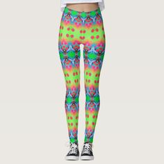 """50% OFF Leggings –Use CODE: EIGHTISGREAT 'til Midnite Tonite 4-25-17. These leggings will give you an entirely new exotic, exciting look. Similar to the currently trending """"Ikat"""" style, this design blends abstract art, technology and psychedelia in a completely unique fashion. The origination image is from my Kinetic Collage """"Sweet Dreams"""" series of light show photos.  Over 3000 products at my Zazzle online store. Open 24/7 World wide…"""