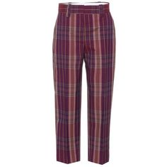 Acne Studios Trea Plaid Wool-Blend Trousers (12.365 CZK) ❤ liked on Polyvore featuring pants, purple, trousers, wide-leg, tartan plaid pants, tartan trousers, plaid pants, plaid trousers and tartan pants