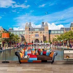 Fotobehang Rijksmuseum | Maak het jezelf eenvoudig en bestel fotobehang voorzien van een lijmlaag bij YouPri om zo gemakkelijk jouw woonruimte een nieuwe stijl te geven. Voor het behangen heb je alleen water nodig! #behang #fotobehang #print #opdruk #afbeelding #diy #behangen #amsterdam #holland #nederland #rijksmuseum #museum