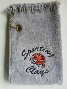 Skeet Trap Sporting Clays Shooter Shooting Towel Clay Targets