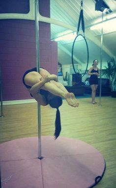 Cuteness in pole dancing