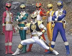 These are the costume that should have been used in Power Rangers Season 2. (They only used the white ranger one in the US version. Picture from the Japanese version.)