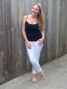 White Denim Jeans blogger fashion style