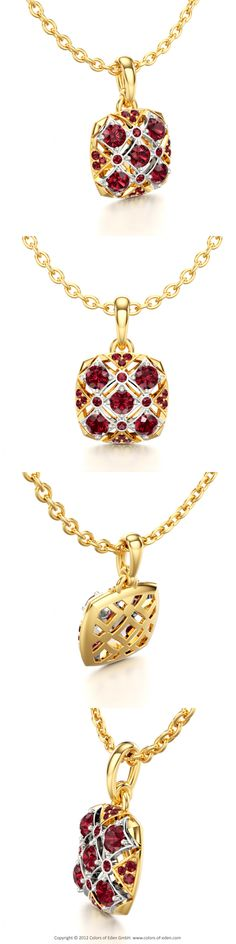 """18k Yellow and White Gold Ruby Pendant - """"Seduction"""""""