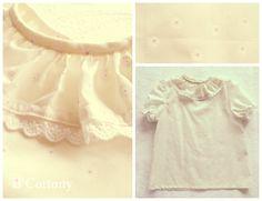 Camisa de cambraia crua com florzinhas brancas, 100% algodão