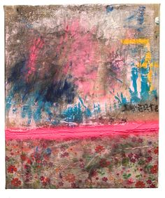 Alfredo Scaroina This… is what I remember of you 2014 Encaustic, Oil, Gesso, Dirt, spray paint, found fabric, Charcoal on canvas 24 x 20 inches