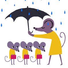 mice with umbrella - hector dexet
