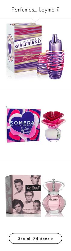 """""""Perfumes.., Leyme ♥"""" by leticia-dominguez ❤ liked on Polyvore featuring beauty products, fragrance, perfume, accessories, justin bieber, beauty, makeup, flower perfume, justin bieber fragrance and eau de perfume"""