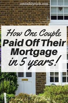 Debt Free Story: How this couple paid off their mortgage in 5 years - Mortgage Loan Originator - Paying off mortgage tips. - Check out the inspirational story of how this couple paid off their mortgage in 5 years! Best Mortgage Lenders, Refinance Mortgage, Mortgage Companies, Mortgage Tips, Mortgage Rates, Mortgage Loan Originator, Mortgage Interest Rates, Home Equity Loan