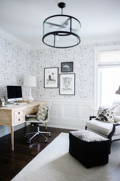 Gorgeous Home Office Design by the Lark and Linen Blog | Desk: Colette Desk from the AVE Raw line from Ave Home
