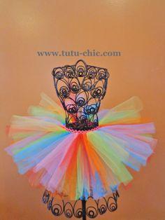 Pink Rainbow tutu  Candyland tutu Colorful by TutuChicHBBoutique, $17.99