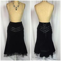 Velvet Gothic Steampunk Black Corset Bustle Renaissance Skirt 12   eBay