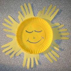 handprint sun craft by jenniferET