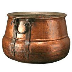 Antique Copper Cauldron