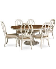 Sag Harbor Round Dining Furniture, 7-Pc. Set (Table & 6 Side Chairs) - Furniture - Macy's