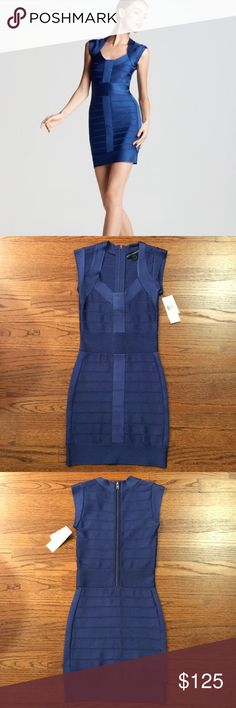 French Connection Sexy Blue Bodycon Dress Never worn, new with tags, authentic French Connection blue bodycon dress. Originally $178 French Connection Dresses