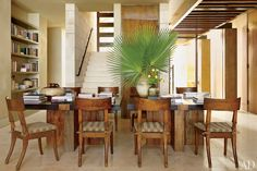 Olson Kundig Architects and designer Terry Hunziker, Mexico Residence, Los Cabos | dining room