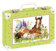 Školní kufřík velký - 35x25x11cm č. 21741 HK Velký    Hříbata a koťata -vznik velkého přátelství? Lunch Box, Bento Box