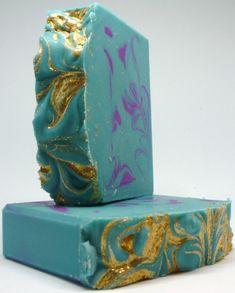 PURPLE PEACOCK Goat Milk Soap Gift for Her Handmade Soap